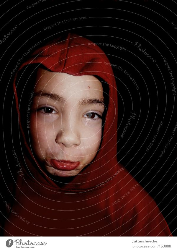 Child Red Boy (child) Grief Infancy Distress Hooded (clothing) Grimace Feeble