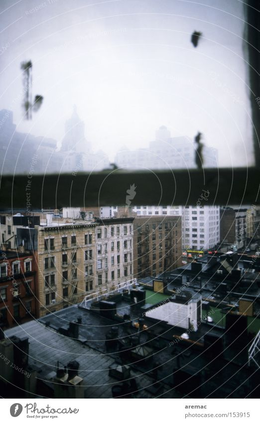 Low Budget Hotel Window House (Residential Structure) Town New York City Manhattan Americas Looking Roof Derelict