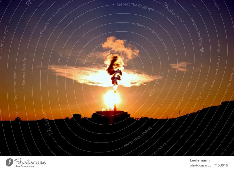 Clouds Dark Cold Warmth Large Sunset Agitated Smoke cloud