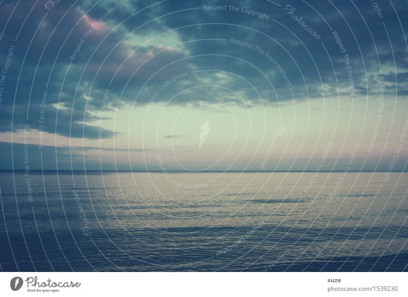 Great climate | to the horizon Harmonious Ocean Environment Landscape Elements Air Water Sky Clouds Horizon Weather Coast Baltic Sea Dream Simple Cold Maritime
