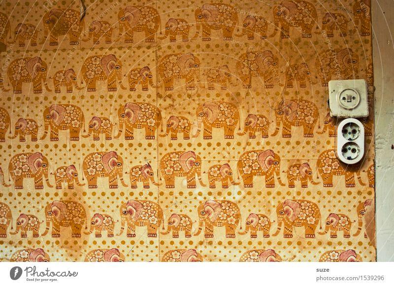 nursery Design Decoration Wallpaper Children's room Infancy Sadness Old Dirty Retro Yellow Orange Loneliness Fear Distress Perturbed Nostalgia Innocent Past