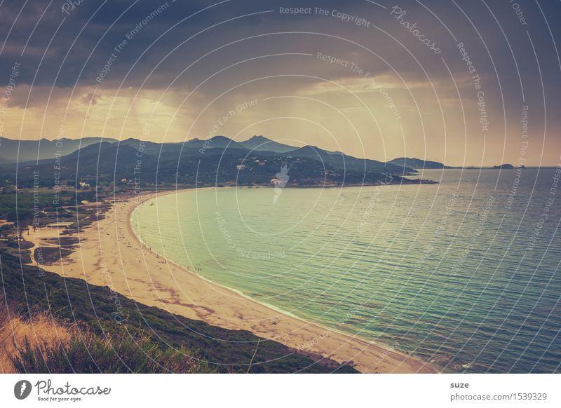 Vacation & Travel Summer Ocean Loneliness Beach Coast Moody Sand Tourism Rain Leisure and hobbies Weather Idyll Europe Island Bay