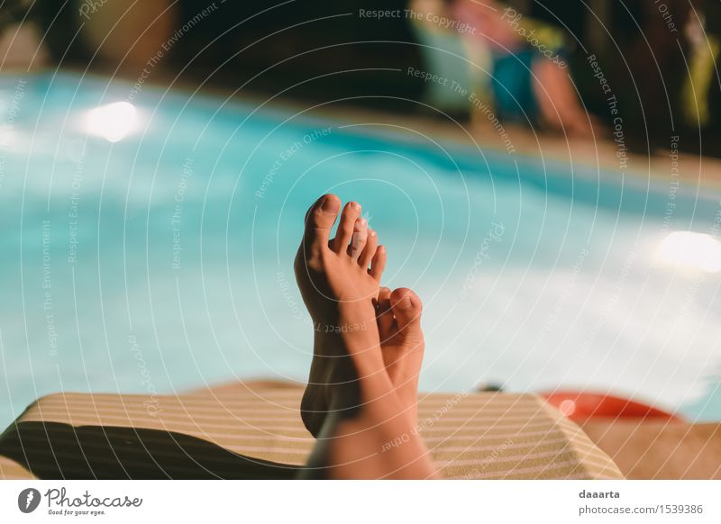 chillin by the pool Summer Joy Life Emotions Feminine Style Playing Lifestyle Feasts & Celebrations Freedom Party Moody Feet Wild Living or residing