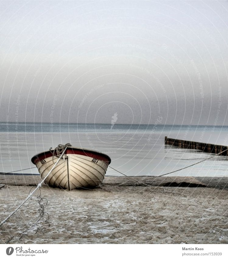 Stranded pt.ii Beautiful Relaxation Calm Fishing (Angle) Beach Ocean Island Water Coast Baltic Sea Watercraft Blue Loneliness Remote quiet scene moored Cover