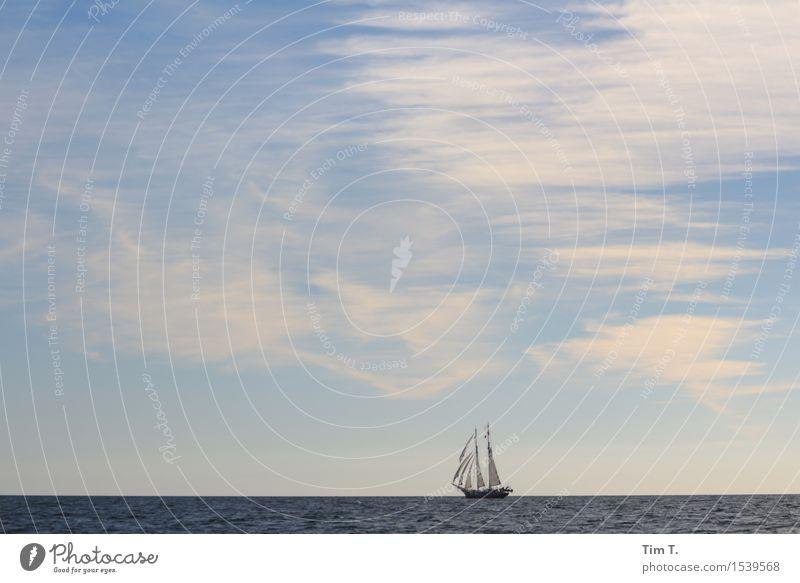 wanderlust Nature Landscape Water Sky Clouds Horizon Summer Baltic Sea Ocean Navigation Boating trip Yacht Sailboat Sailing ship Moody Wanderlust