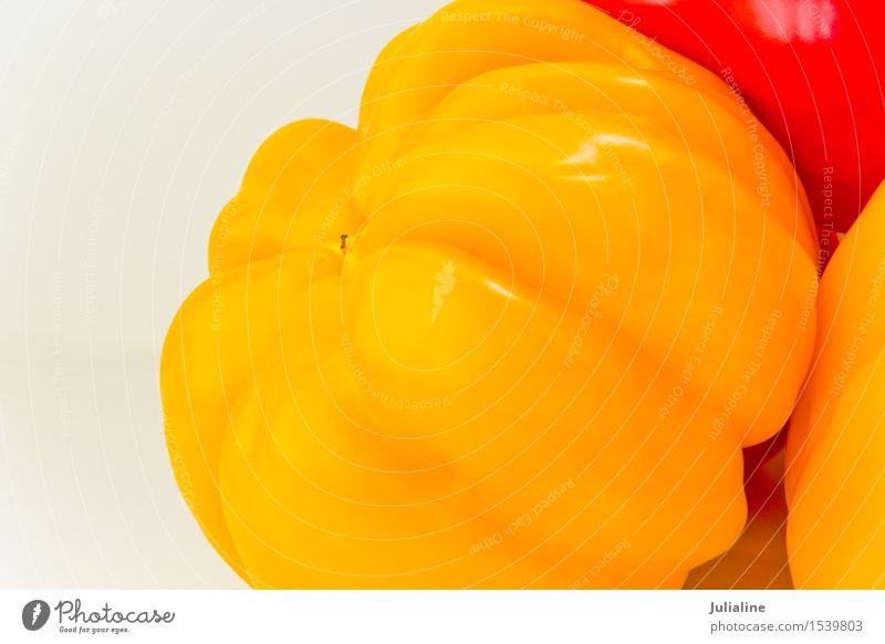 Photo of yellow raw pepper on white Yellow Vegetable Vegetarian diet Raw Organic