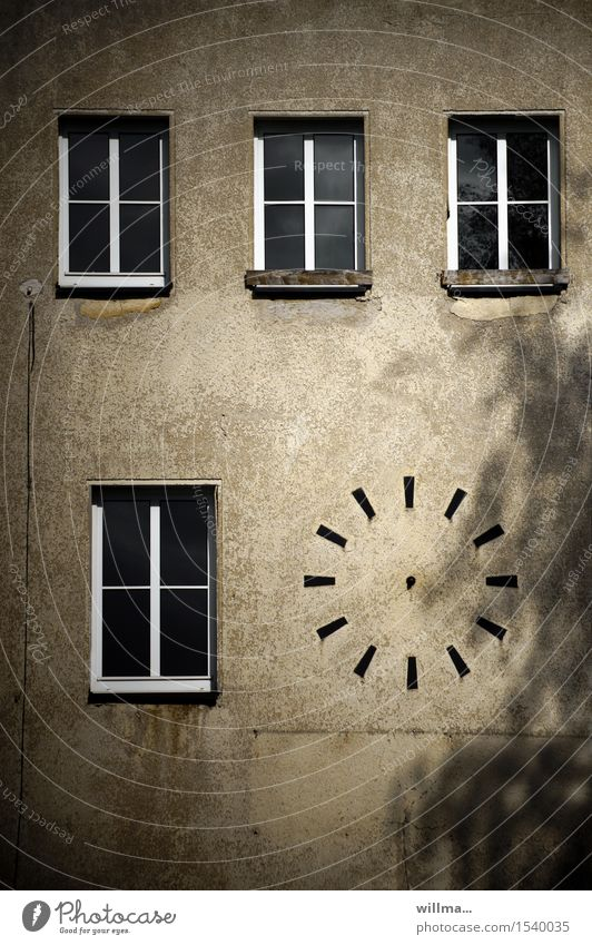 the timeless Manmade structures Building Architecture Wall (building) Clock Clock face Timeless Timetable Eternity Window Broken Leisure and hobbies Transience