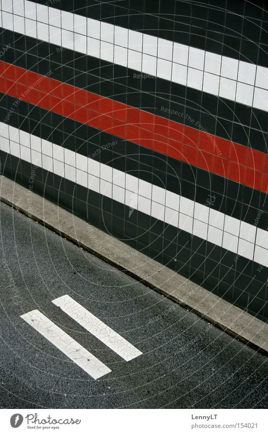RECCURENCE Tunnel entrance Highway Street Pattern Exemplary Illustration Stripe Sidewalk Traffic infrastructure Transport