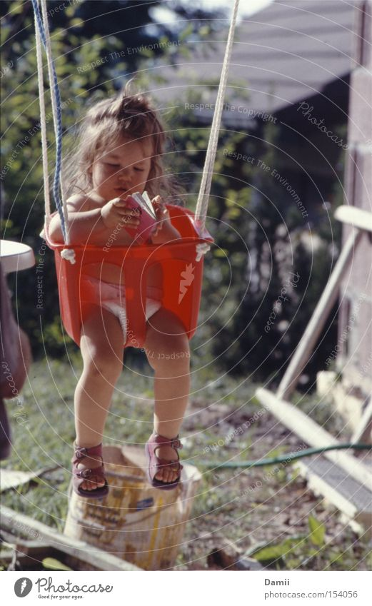 Hanging on the construction site... Girl Book Construction site Swing Education Study Calm Interest Sweet Reading Sandal Hand Summer Relaxation Toddler pempas