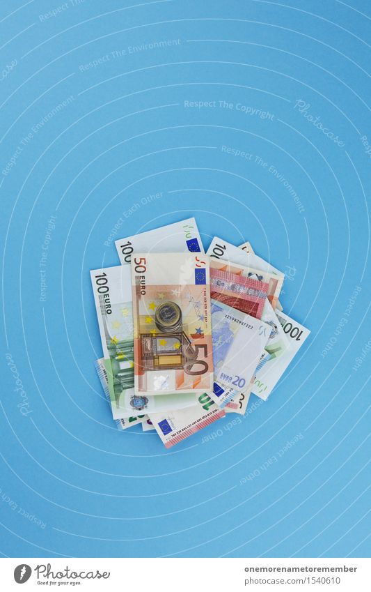 Blue Art Business Design Esthetic Europe Money Financial institution Graphic Bank note Work of art Save Euro symbol Coin Heap