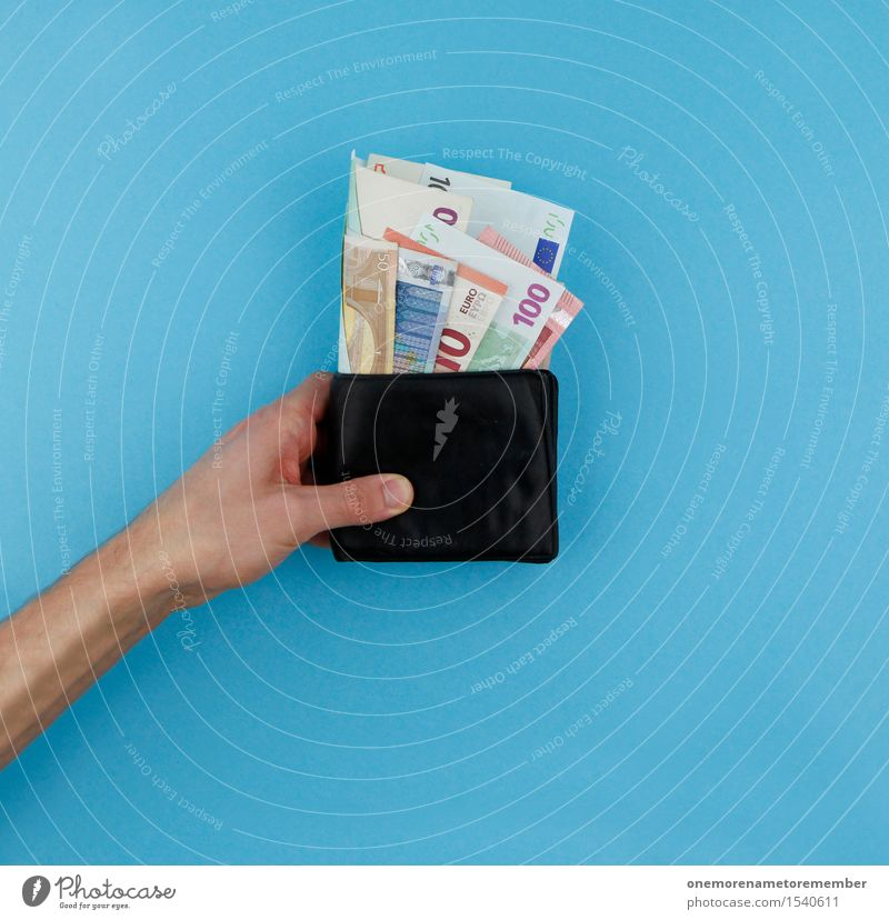 Blue Hand Art Design Esthetic Shopping Help Money To hold on Bank note Work of art Save Financial Industry Euro Give Euro symbol