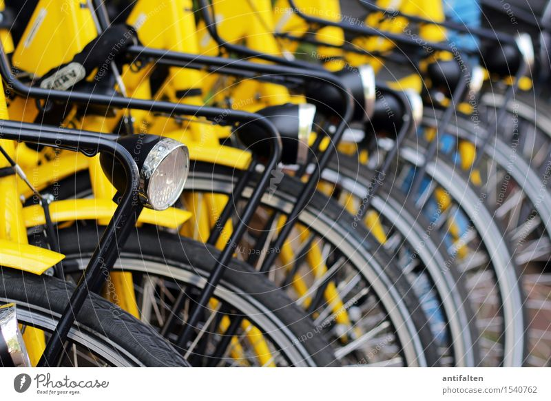 Bicycle bicycle bicycle... Lifestyle Style Joy Healthy Leisure and hobbies Cycling Vacation & Travel Tourism Trip Sightseeing City trip Summer Sun Amsterdam