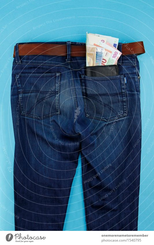 Blue Art Masculine Esthetic Money Many Financial institution Graphic Pants Bottom Jeans Bank note Work of art Save Denim Euro