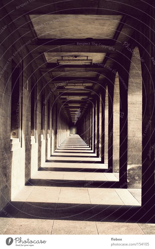 Infinity Gate Tunnel Historic Entrance Hallway Geometry Column Ancient Symmetry Archway Corridor House of worship