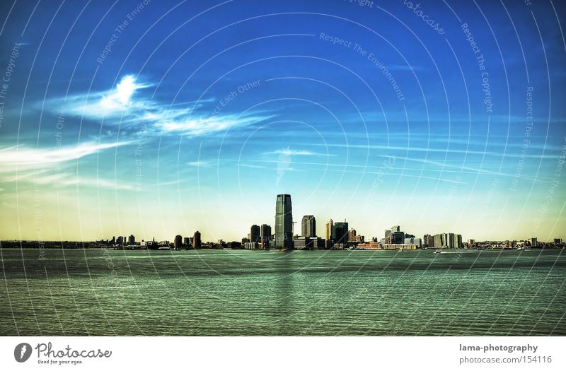 Atlantis New York City USA High-rise Skyline Ocean Architecture Clouds Town Island Go under