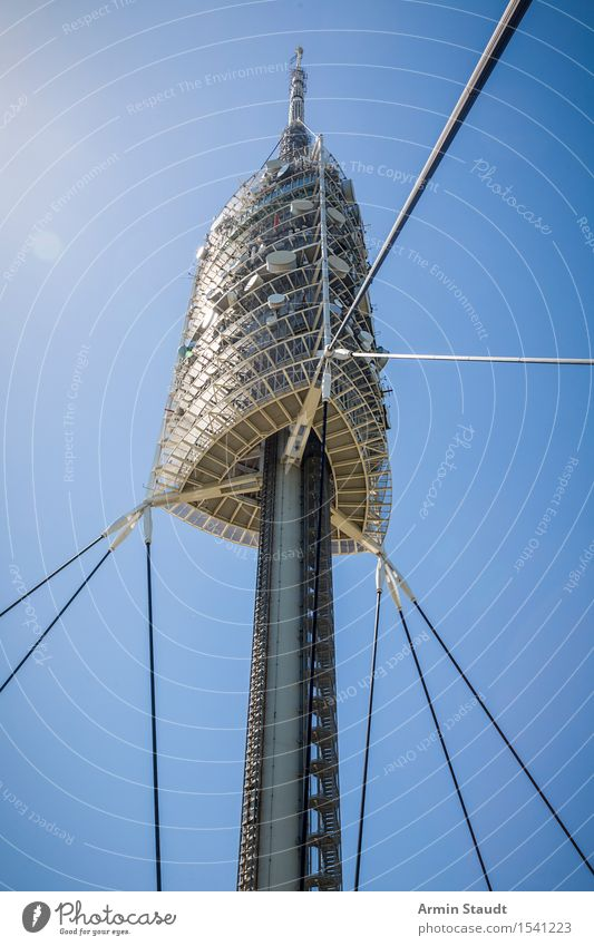 Vacation & Travel Summer Architecture Design Contentment Modern Glass Esthetic Tall Large Beautiful weather Tower Landmark Tourist Attraction Cloudless sky
