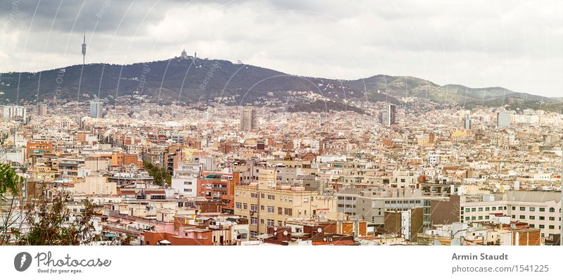 Panorama - Barcelona Lifestyle Vacation & Travel Tourism Sightseeing Environment Sky Storm clouds Climate Mountain Town House (Residential Structure) High-rise