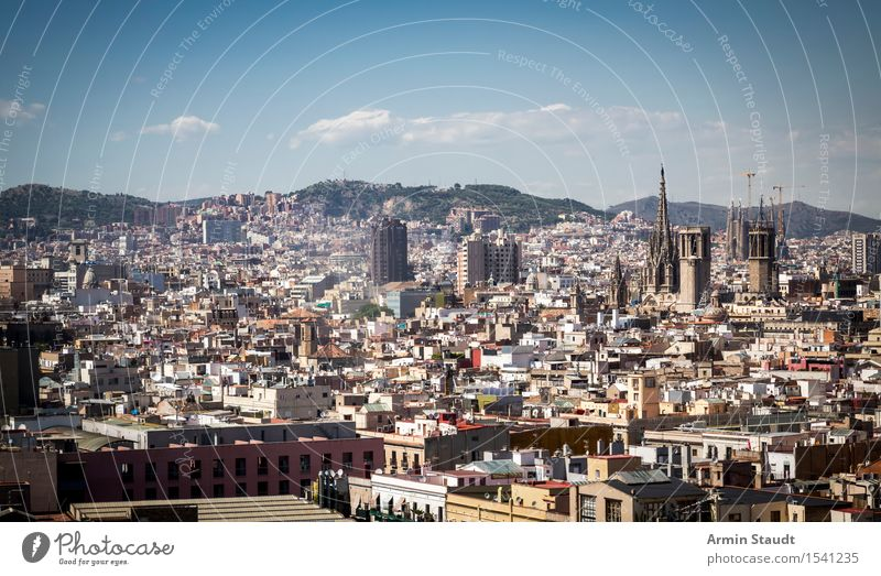 Panorama - Barcelona Lifestyle Luxury Style Vacation & Travel Tourism Far-off places Sightseeing City trip Summer vacation House (Residential Structure)