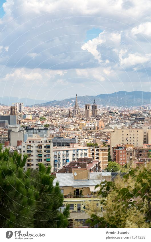 Barcelona Lifestyle Luxury Style Vacation & Travel Tourism Far-off places Sightseeing City trip Summer vacation House (Residential Structure) Environment Sky