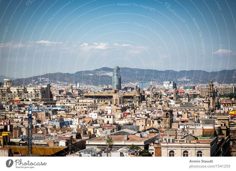 Panorama - Barcelona Lifestyle Luxury Style Vacation & Travel Tourism Far-off places Sightseeing City trip Summer vacation Environment Sky Clouds