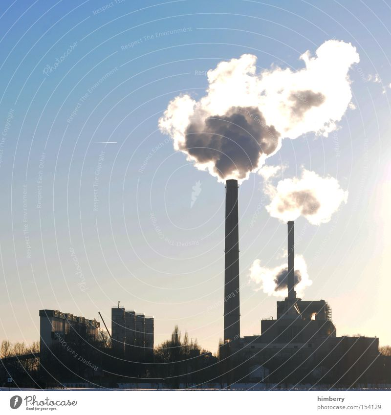 Building Energy Industry Electricity Industrial Photography Factory Exhaust gas Chimney Ecological Heater Chemistry Electricity generating station Carbon dioxide Thermal power station Emission Harmful substance
