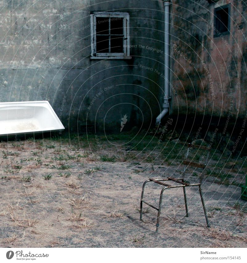 Loneliness Dark Sadness Closed Gloomy Bathtub Broken Grief Chair Derelict Africa Decline Furniture Strange Eerie