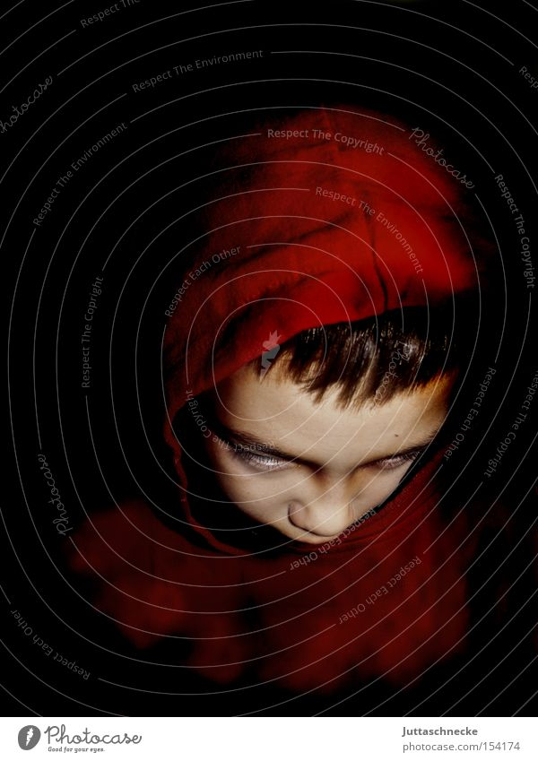 Child Red Boy (child) Dangerous Carnival Creepy Hooded (clothing) Hallowe'en Devil