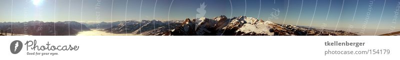Sun Winter Snow Mountain Large Switzerland Alps Austrian Alps Swiss Alps Panorama (Format) Nature Federal State of Vorarlberg Alpstein Mount Säntis