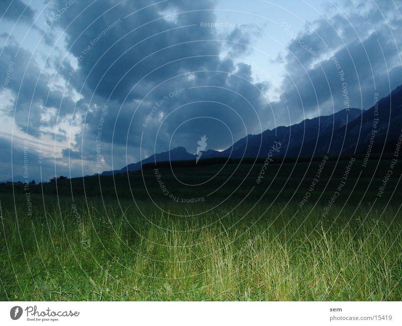 Green Clouds Meadow Mountain