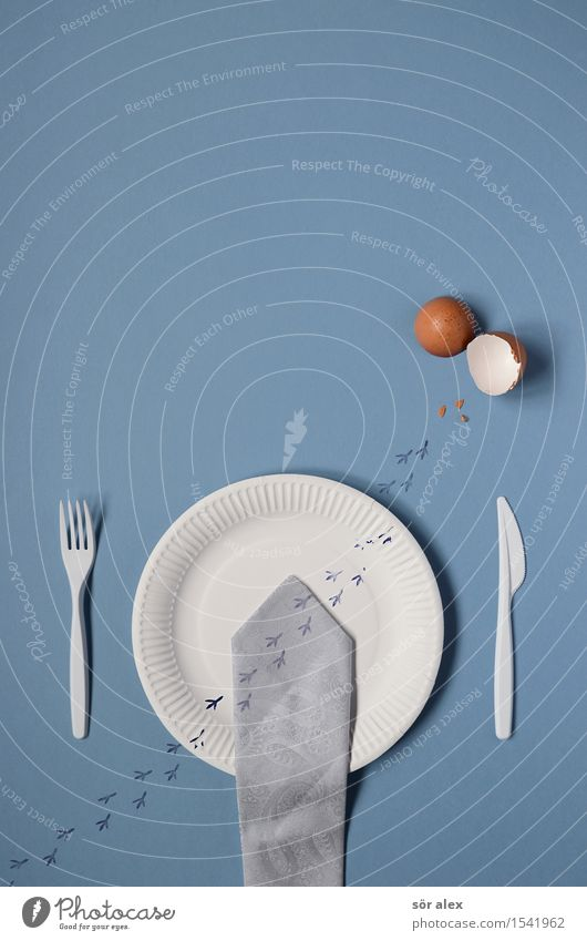 Remix | Survival Artist paper plates Plate Cutlery Work and employment Financial Industry Stock market Business Tie Eggshell Chick Blue White Remixcase Appetite