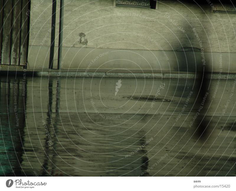 rain reflection Wet Reflection House (Residential Structure) Photographic technology Rain Street Shadow Ghosts & Spectres