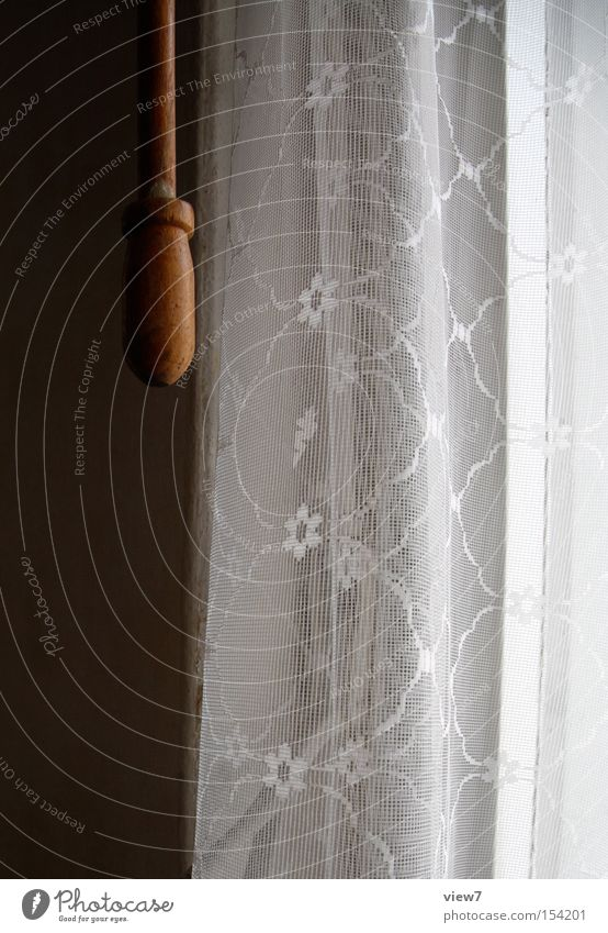 Old Loneliness Wood Going Cloth Drape Obscure Material Lace Curtain Door handle Forget Rod