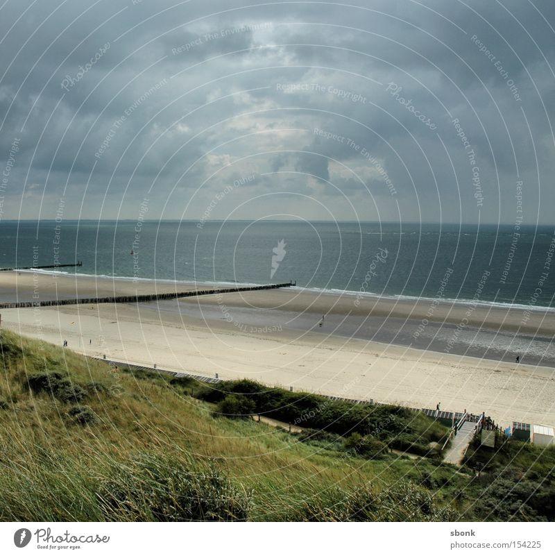 Ocean Beach Clouds Lanes & trails Lake Rain Coast Weather Gale Fence Netherlands