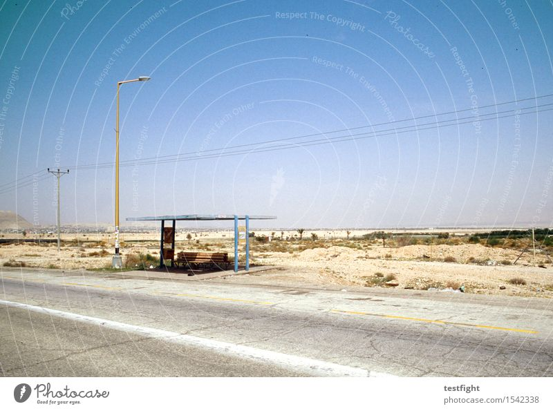 little waiting house Environment Nature Landscape Earth Sand Air Sky Cloudless sky Climate Climate change Beautiful weather Desert Transport