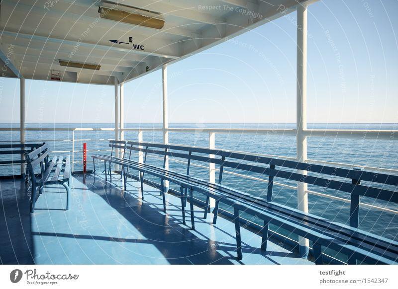 ferry Environment Nature Sun Sunlight Summer Ocean Navigation Inland navigation Passenger ship Ferry Driving Vacation & Travel Wait Infinity Maritime Freedom