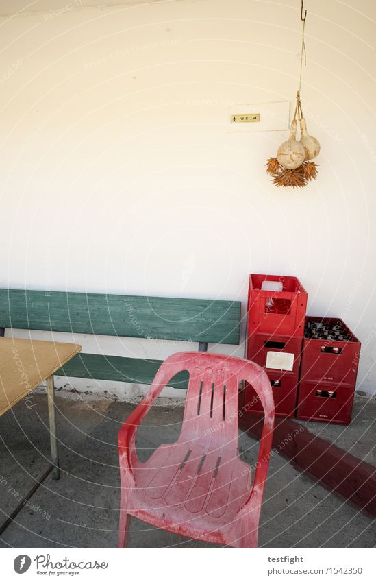Old Red Wall (building) Wood Sit Wait Table Chair Bench Serene Beer Patient Case of beer