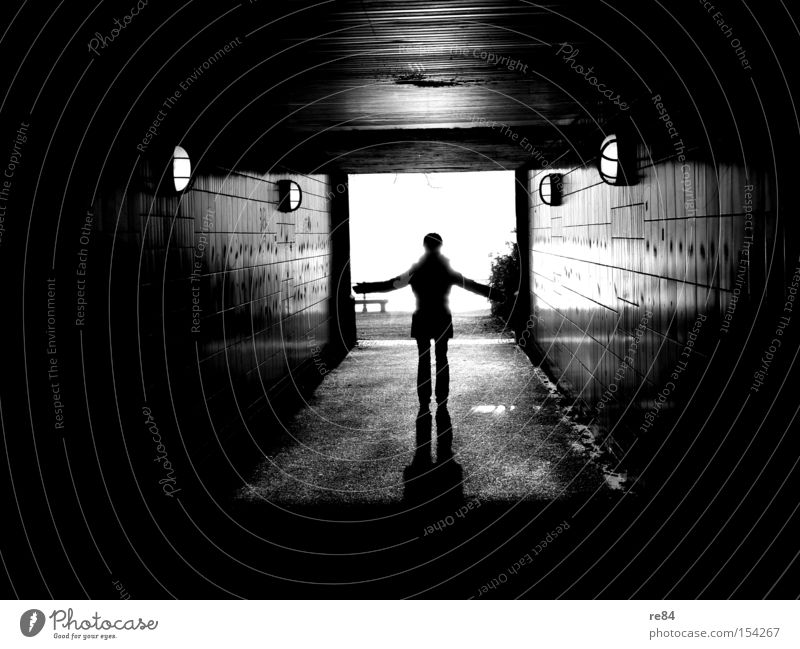 Towards the sun Shadow Light Tunnel Crucifix Holy Hallway Human being Plus Emotions