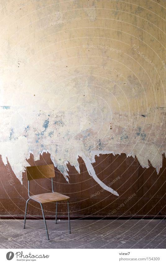Old Wood Legs Design Cloth Chair Decoration Derelict Furniture GDR Pattern Forget Backrest