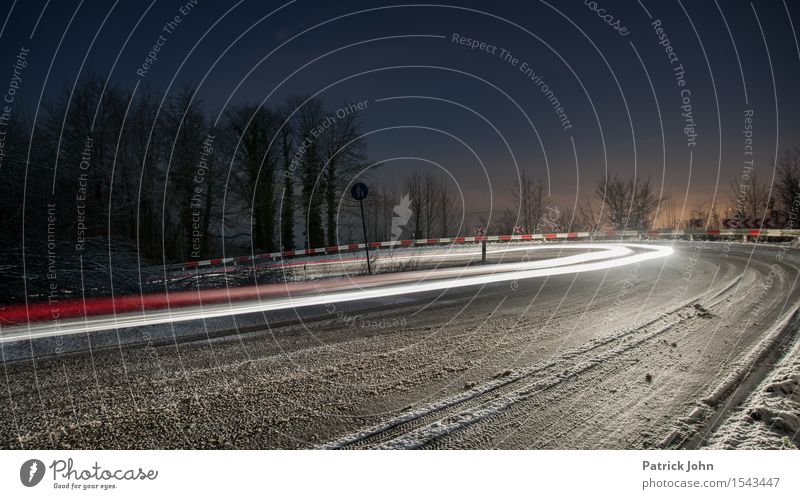 speed of light Deserted Traffic infrastructure Road traffic Motoring Traffic accident Street Overpass Vehicle Car Driving Responsibility Watchfulness