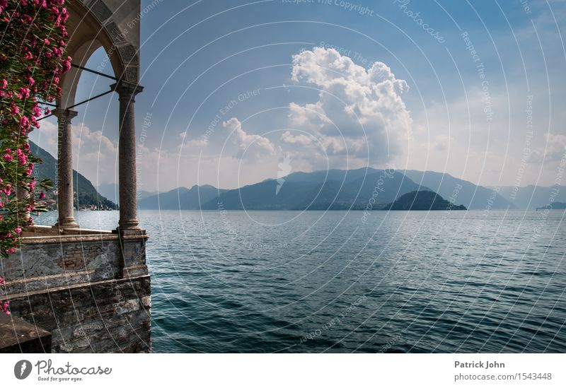 Lago di Como Vacation & Travel Tourism Trip City trip Summer Summer vacation Sun Island Mountain Hiking Nature Landscape Plant Air Water Sky Clouds