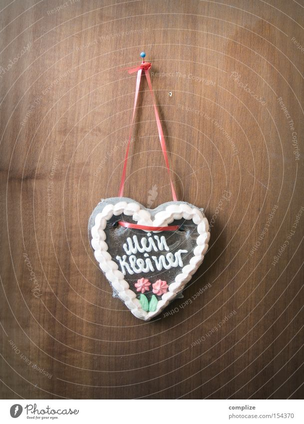 My little one Candy Nutrition Design Decoration Oktoberfest Fairs & Carnivals Wood Heart String Old Love Kitsch Small Retro Sweet Gloomy Wall (building)