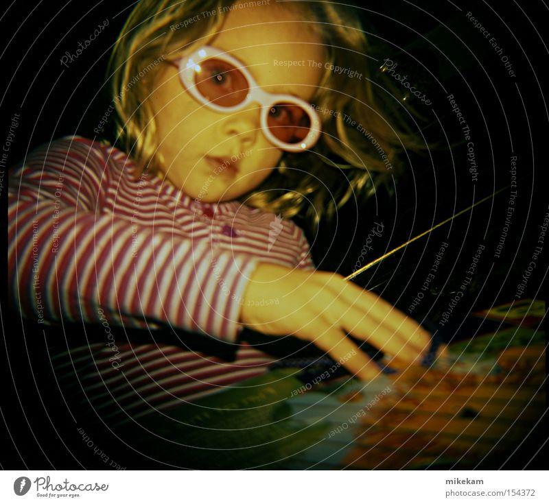 Moody Jigsaw Eyeglasses Holga Stripe Blonde Sunglasses Child little girl