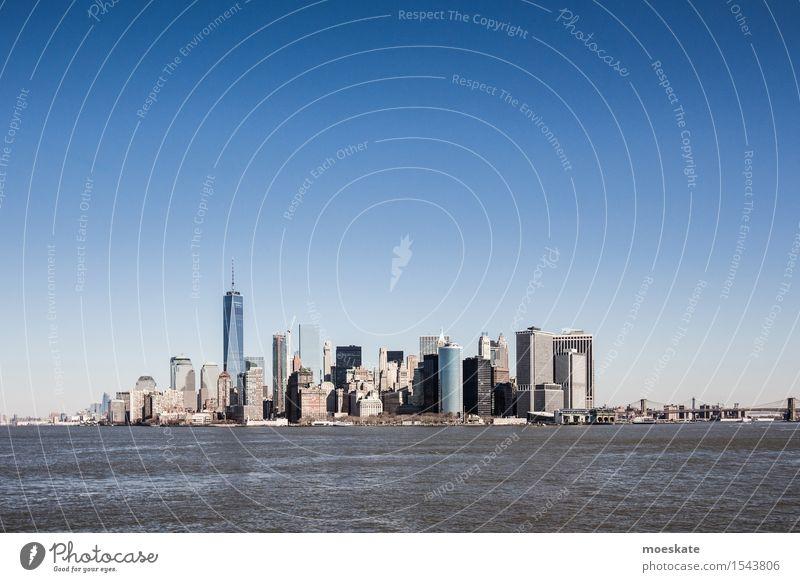 City Blue Gray High-rise Skyline Downtown New York City One World Trade Center