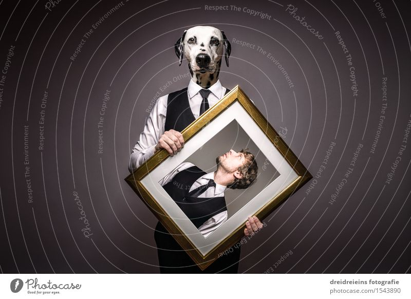 Lord and dog or dog & master - The dog human being. Shirt Suit Tie Animal Pet Dog Dalmatian Love Elegant Uniqueness Reliability Self-confident Cool (slang)