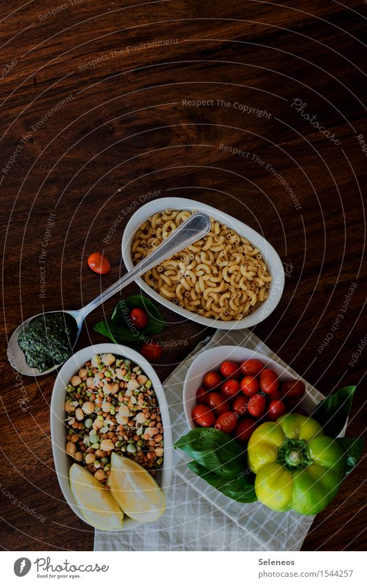 noodle salad Food Vegetable Lettuce Salad Herbs and spices Nutrition Lunch Dinner Organic produce Vegetarian diet Diet Spoon Healthy Gastronomy Eating Noodles