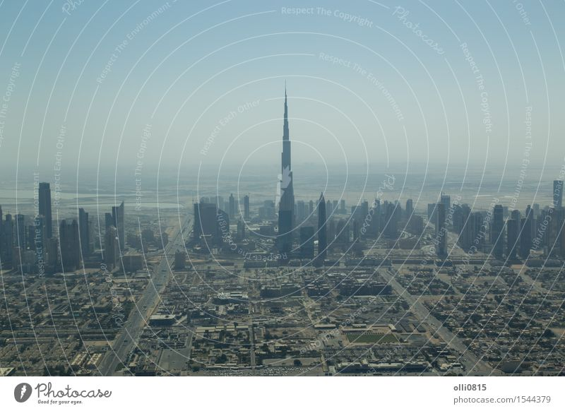 Dubai skyline aerial view Vacation & Travel City House (Residential Structure) Architecture Building Tourism High-rise Vantage point Asia Skyline Height Tourist
