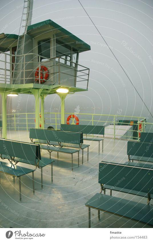 ferry Ferry Watercraft Vacation & Travel Ocean Fog Life belt Bench Harbour