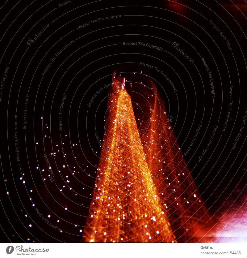 Christmas & Advent Red Yellow Dark Movement Pink Light Night Christmas tree Rotate Christmas Fair Christmas decoration