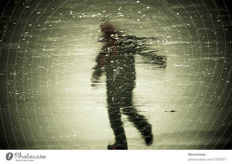 Human being Winter Cold Ice Dance Frozen Ghosts & Spectres  Surface Reflection Dancer Eerie Mirror image Ice-skating