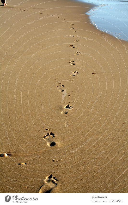 Water Ocean Beach Freedom Happy Lanes & trails Sand Coast Tracks Footprint Curve